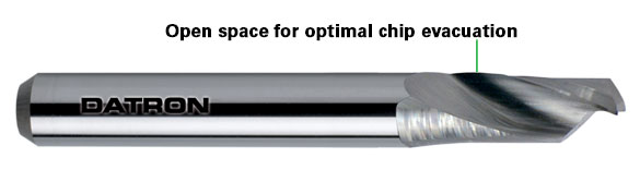Chip evacuation in CNC machining facilitates high feed rates, better cutting quality and reduced tool breakage.