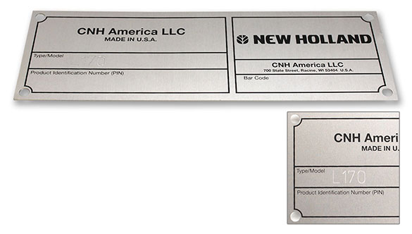 Serial number engraving of name plates and identification tags that are batch machined from sheet material and metal photo on the same machining center .