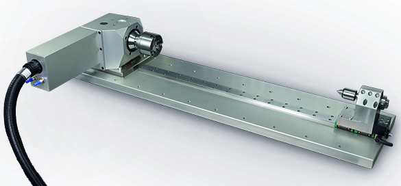 This precision rotary axis with a tailstock can be integrated on the CNC milling machine to add 4th axis workholding and machining capability.