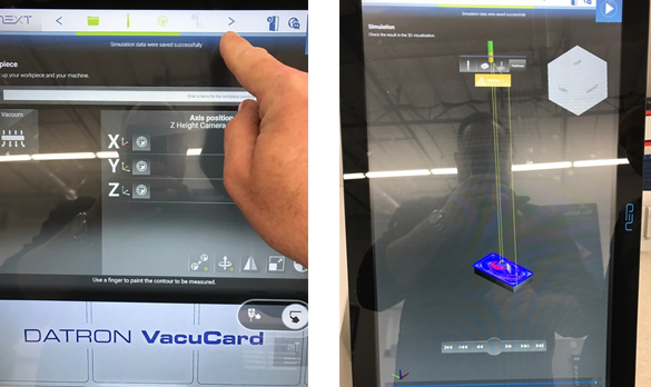 Milling simulation is the next step in CNC workflow for the DATRON neo high speed milling machine.