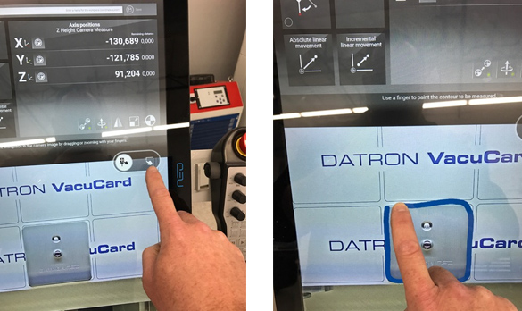 Probing is the next step in the CNC workflow when using DATRON neo.