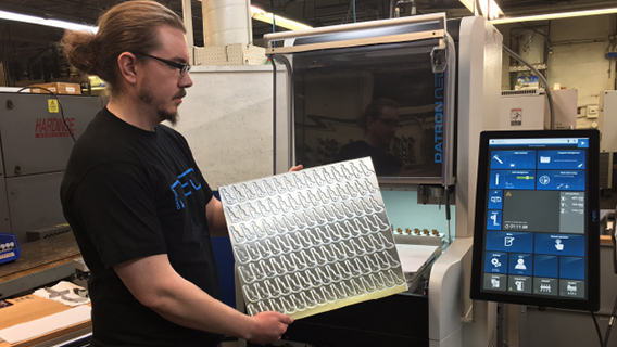 The DATRON neo is compact high speed milling machine that is reducing some of Carbide Products cycle times by 50% over the Haas Super Mini Mill.