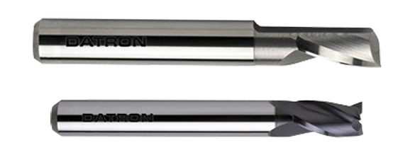 Tool deflection is reduced by using tools with a larger diameter shank and less flutes when possible.
