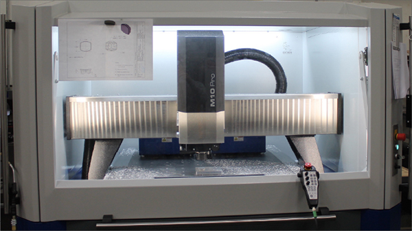 Precision match metal stamping dies and thermoforming molds with a perfect surface finish must be produced with a precision milling machine like Hytech's DATRON M10 Pro.