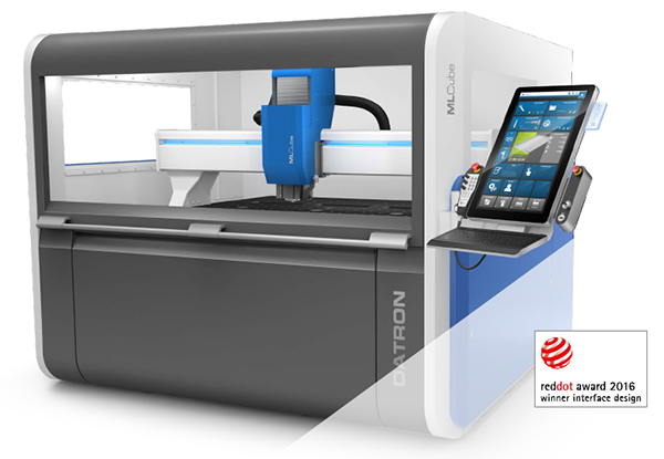 DATRON milling machine with a unique touch-screen control.