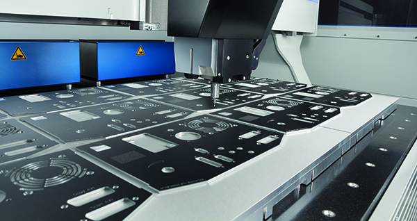 DATRON milling machines have a large work area compared to a small footprint.