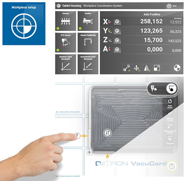 DATRON milling machines have robust functionality with an easy touch-screen control.