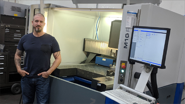 Dave Blandino was instrumental in evaluating technologies and choosing the DATRON M10 Pro for the production of thermoforming molds and precision machining on match metal trim dies.