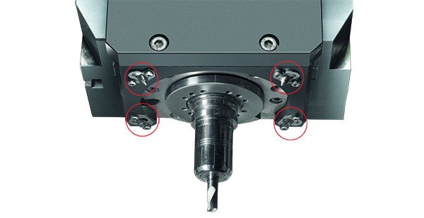 Nozzles spray a mist of coolant that cools the tool and then evaporates leaving clean dry workpieces and chips.