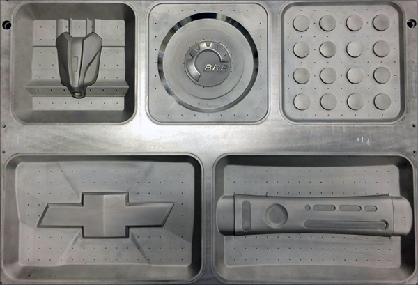 Thermoform molds an match metal stamping dies or match metal trim dies are an area of expertise for Hy-Tech Forming.