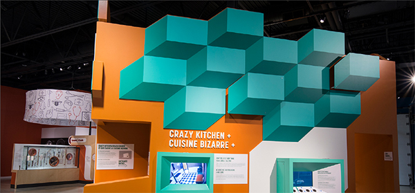 One of the many compelling, dimensional graphic displays produced by Expographiq in Quebec Canada.
