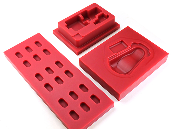 Pharmacutical packaging starts with thermoforming plugs milled from Ren 5169